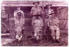 Captain Owers (standing centre) on the RAE staff of Headquarters, II  Australian Corps, at Torokino, Bougainville, in April 1945.