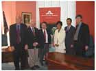 The launch of Cowra-Japan Conversations was held at the Cowra Shire Council on 2 December 2003. In attendance were many of the interviewees. Pictured are (from left to right) Mr Steve Bullard, Mr Terry Colhoun, Councillor Bill Murphy, Dr Keiko Tamura, Capt Fumiyuki Kitagawa, and Dr Peter Londey.