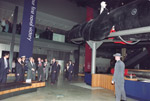 Prime Minister Koizumi inspects the Japanese Midget Submarine in Anzac Hall of the Australian War Memorial during his visit to Canberra on 1 May 2002.